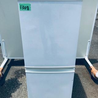 ②1308番 シャープ✨ノンフロン冷凍冷蔵庫✨SJ-D14A-W‼️