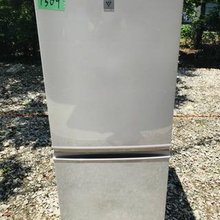 ②1309番 シャープ✨ノンフロン冷凍冷蔵庫✨SJ-PD14B-C‼️
