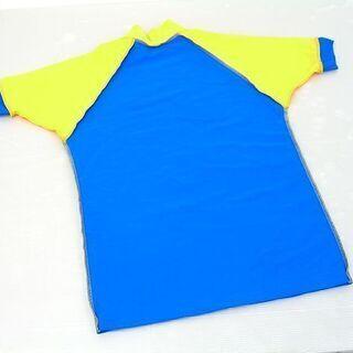 ラッシュガード 半袖 SUN PATROL XSサイズ 青×黄色