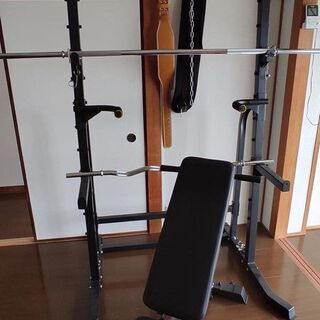 ホームトレーニング機器一式(美品多数:プレート合計145kg)
