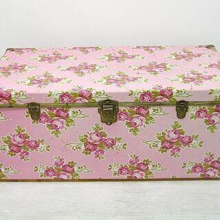 レトロポップ 衣装箱 衣装ケース 収納ケース 木製 花柄