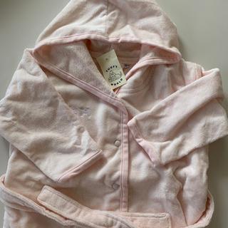 【未使用タグ付き】バスローブ 乳幼児用 ピンク トゥフスワールド