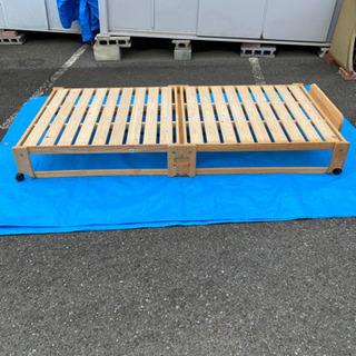 木製折りたたみシングルベッド!