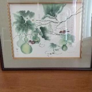 縁起物アート 瓢箪と雀