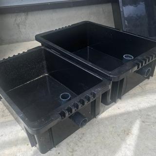 NVボックス 水槽 オバーフロー メダカ 水草 容器 ブラック