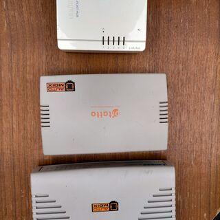 スイッチングハブ+LANケーブルです 中古品