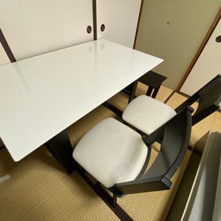 【ネット決済】2wayダイニングテーブル椅子セット【7/10まで】
