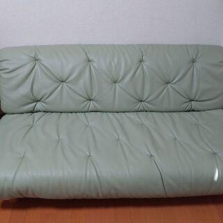 二人用ソファーと丸いテーブルセット【一人暮らし最適】