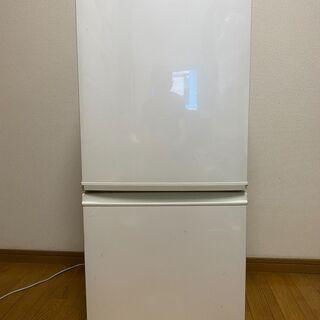 SHARP シャープ 冷凍冷蔵庫「SJ-D14B-W」137L・...