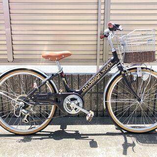 【ネット決済】子供用自転車(22インチ・シマノ製6段変速・ オシャレ)
