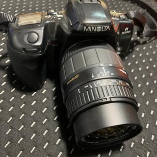 minolta カメラ+sigma望遠レンズ