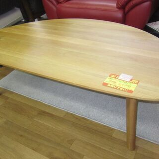 R024 天然木 ローテール、リビングテーブル、幅138 美品