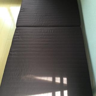 中古 折りたたみベッド 幅90  奥行200  高さ30  (cm) シングル 折り畳み 6cm厚マットタイプ シングルベット ヘッド 手動リクライニング - 羽島市