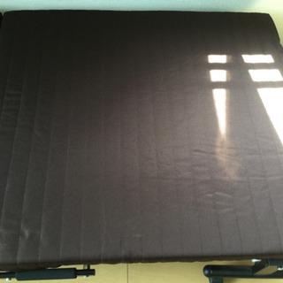 中古 折りたたみベッド 幅90  奥行200  高さ30  (cm) シングル 折り畳み 6cm厚マットタイプ シングルベット ヘッド 手動リクライニング − 岐阜県