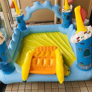 家庭用プール 滑り台 小物付き
