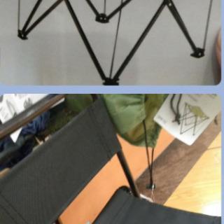 アウトドア用の未使用折り畳み椅子2つ&テーブル1つ