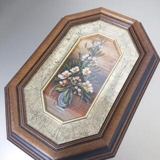 アンティーク イタリア製 油絵 (壁掛け)