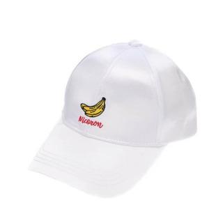 白 キャップ バナナ 帽子 二コロン