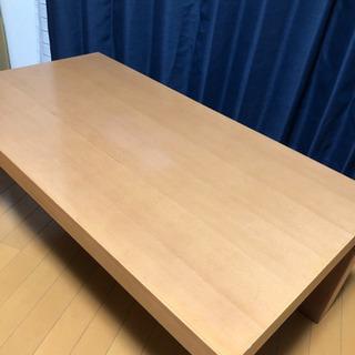 リビングテーブル 無印良品風のシンプルで使いやすいテーブル…