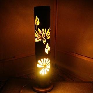 【ネット決済・配送可】竹ランプ 〜〜蓮〜〜 竹灯籠 竹灯り 癒し