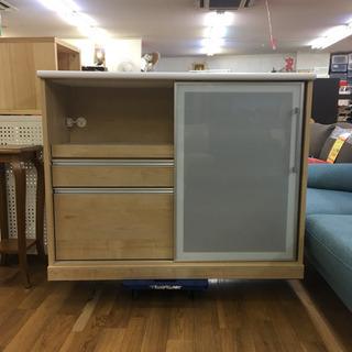 S177  古賀家具  キッチンカウンター、キッチンボード、幅1...