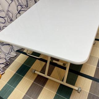 【ネット決済】美品!白い昇降テーブル!