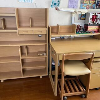 学習机・書棚のセット(コイズミ製)