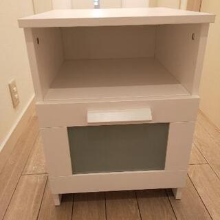 【値下げしました!】サイドテーブル ホワイト 木製 シンプ…