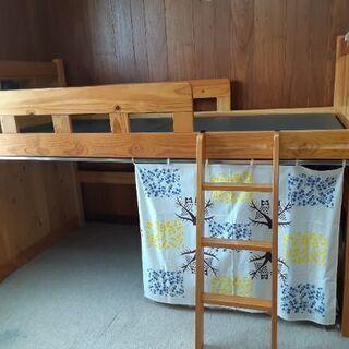 木製ロフトベッド 無料で差し上げます!