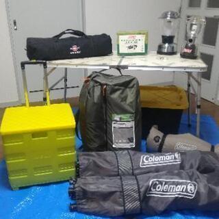 【ネット決済・配送可】【相談中】REI未使用テント含むキャンプ用品1式