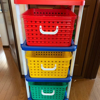収納家具★3段ボックス★引き出しタイプ