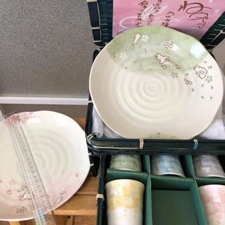 竹かご入り盛り皿セット【未使用品】