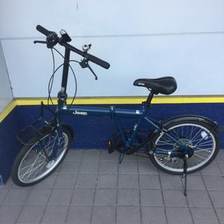 JEEP折りたたみ自転車(ダークネイビー)です。【トレファク東大阪店】