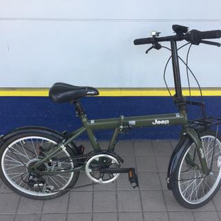 JEEP折りたたみ自転車(カーキ)です。【トレファク東大阪店】