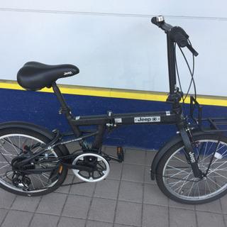JEEP折りたたみ自転車(ブラック)です。【トレファク東大阪店】