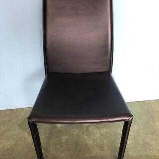 ダイニングチェア ブラック/黒 レザー調 おしゃれ 椅子 …