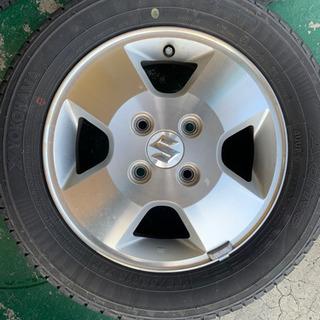 スズキ ワゴンR 純正タイヤ、ホイール付き 4本セット 155/...