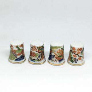 ◎ アンティーク 陶器 和柄 シンブル ◎S1399