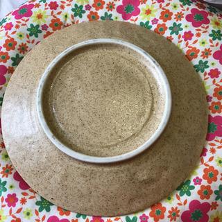 【ネット決済・配送可】USED 越前焼 皿!2枚