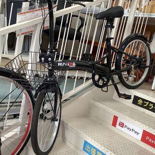 折り畳み自転車 PANGEA TOUGH 黒 20インチ 6段変...