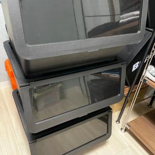 ☆ あげますIKEA 衣装ケース 3箱セット ブラック ☆