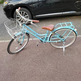 3年前購入品 自転車22インチ パステルブルー 小学校低学年向け
