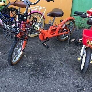 PEOPLE ピッタンコ自転車 16インチ オレンジ ピープル ...