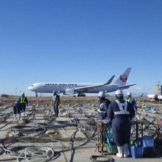 東京国際空港(羽田)滑走路地盤改良関連工事 夜勤