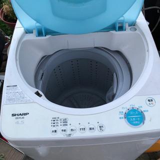 シャープ洗濯機、4.5キロ ジャンク
