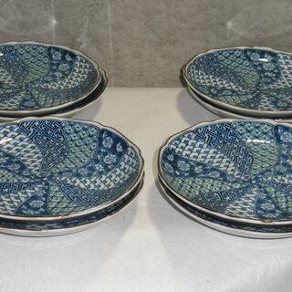 和光園  皿 直径約20㎝ 独特な柄 8枚
