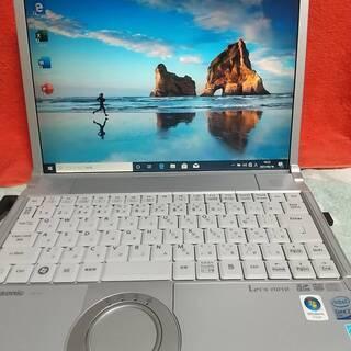 大画面PanasonicレッツノートパソコンにWindows10...