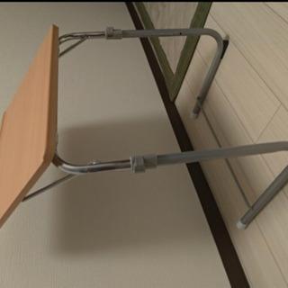 折り畳み 机 デスク 高さ調整可能