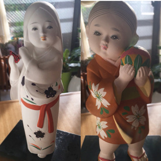 ♡博多人形♡2体♡女性♡男の子♡
