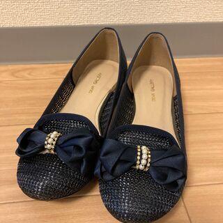 【美品!】紺の夏仕様パンプス 21.5cm